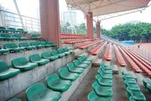 Sports stadium empty seats — Stock Photo