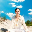 Meditation woman - Stock Photo