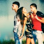Love triangle — Stock Photo