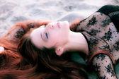 Beauty on beach — Stock Photo