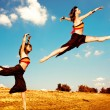 Dance in field — Stock Photo