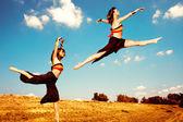 Dance in field — Stock Photo