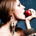 Bite an apple — Stock Photo #7600181
