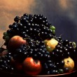 Grapes and apples — Stockfoto