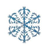 Snowflake shape decoration — Stock Photo
