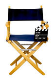 Director's Chair with Clapboard Isolated — Zdjęcie stockowe