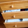 Stock Photo: Open drawers