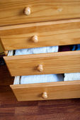 Open drawers — Stock Photo