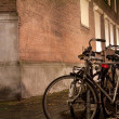 Stock Photo: Parked bicycles
