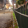 Foto Stock: Green fence