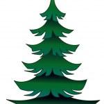 Green pine — Stock Vector