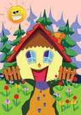 Happy house — Stock Vector