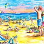 Постер, плакат: Beach scenery