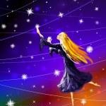 Night and stars — Stock Photo