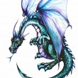 Stock Photo: Blue dragon