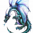 Blue dragon — Stock Photo
