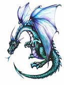 Dragón azul — Foto de Stock