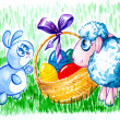 Stock Photo: Easter scene
