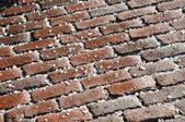 Salted bricks — Stock Photo
