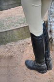 English Riding Boots — Stock Photo