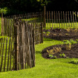 A fence in a garden — Photo