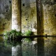 San Gimignano medieval fountain — Stock Photo
