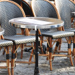 parisian cafe terrace — Stock Photo