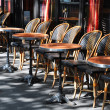 Cafe terrace in Paris — Stock fotografie #6777617