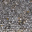 Old wood tiled roof — Foto Stock