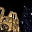 Notre-Dame de Paris at Christmas - Stock Photo