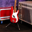A red bass guitar — Stock Photo