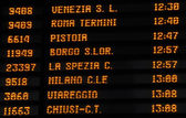 Timetable train timetable, Italy — Foto de Stock
