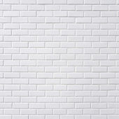 White brick wall — 图库照片