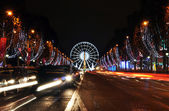 The Champs-Elysees avenue illuminated for Christmas — Stock Photo