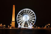 Ferris wheel on Concorde Square, Paris — Stock Photo