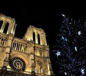 Notre-Dame de Paris at Christmas — Stock Photo