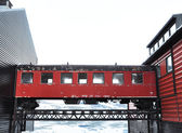Wagon footbridge — Stock Photo
