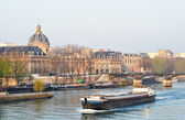 A barge on the river Seine, Paris — Stock Photo