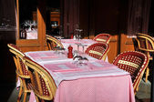 Typical French bistro, Paris — Stock Photo