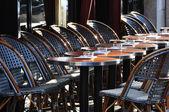 Parisian cafe terrace — Stock Photo