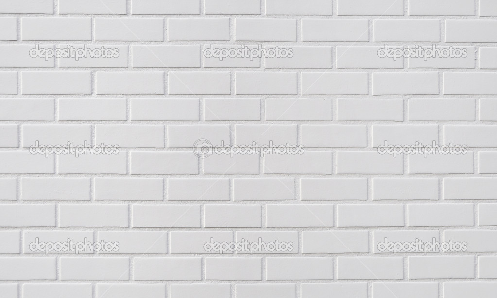 White brick wall, perfect as a background  Stock Photo #6777050