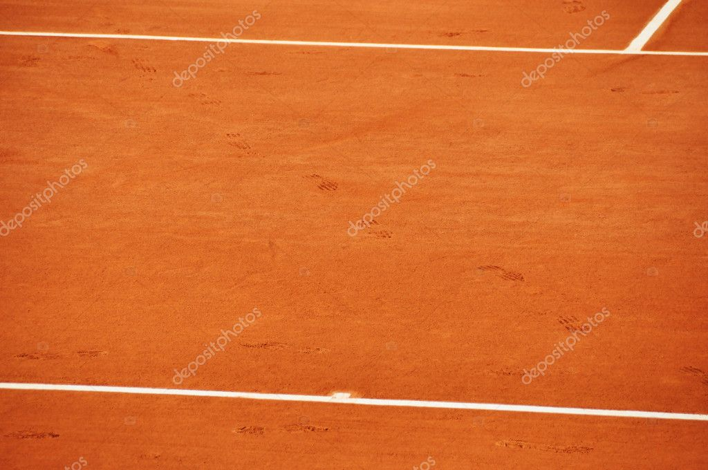 Clay tennis court, Roland Garros, Paris, France — Stock Photo #6777653