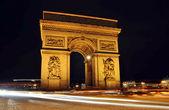 łuk triumfalny w nocy, paryż — Zdjęcie stockowe