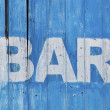 Bar sign — Stock Photo #7716613