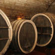 Stock Photo: Old wine cask in cellar