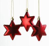Three Christmas Stars — Stock Photo