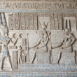 ������, ������: Egyptian hieroglyphic paintings on a temple wall