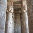 Столбцы в древний египетский храм — Стоковое фото
