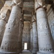 Columns in an ancient egyptian temple - Stock Photo