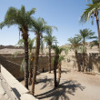 Stock Photo: Remains of sacred lake at ancient egyptitemple